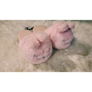 Shoes - 🐰 ADORABLE FLUFFY PINK BUNNY SLIPPERS
